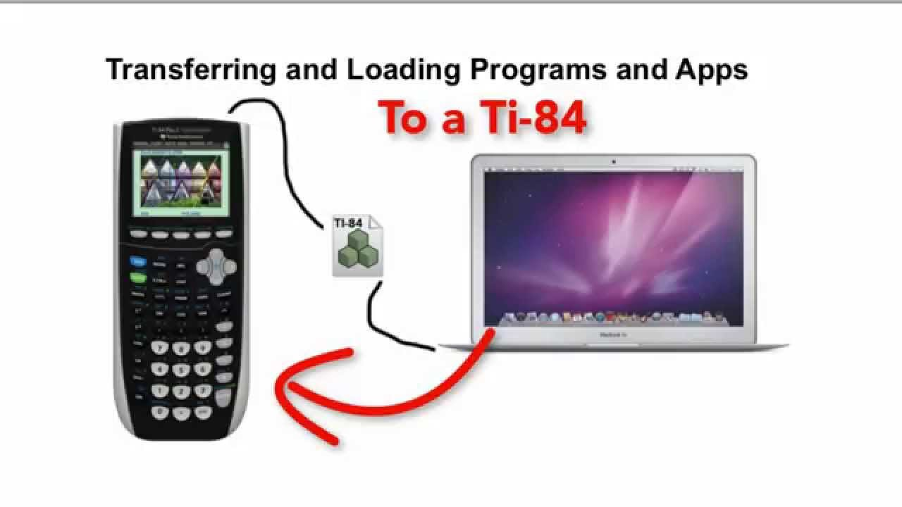 Transferring files to the TI-84
