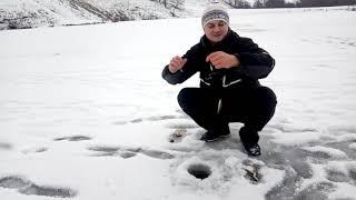 Зимняя рыбалка 2019,первый лёд 2019, Открытие сезона.Окунь.