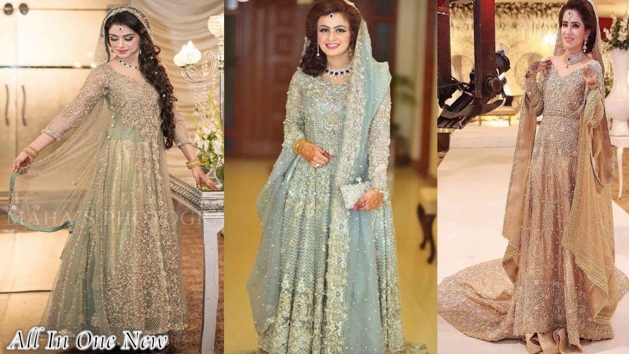 Latest Pakistani Bridal Walima Dresses For Girls 2018
