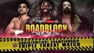 WWE Roadblock End Of The Line 2016:  Rich Swann vs The Brian Kendrick vs TJ Perkins- Match Card