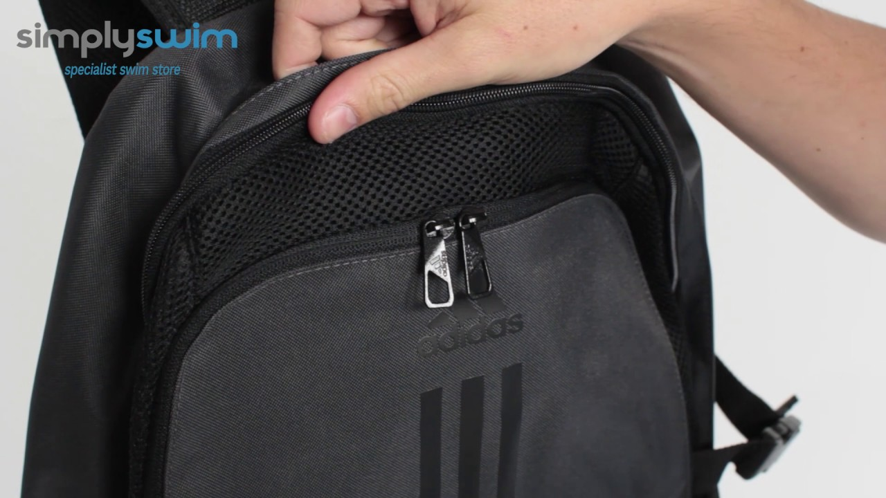Adidas Power III Backpack - Utility Black - www.simplyswim.com - YouTube ee515c753035b