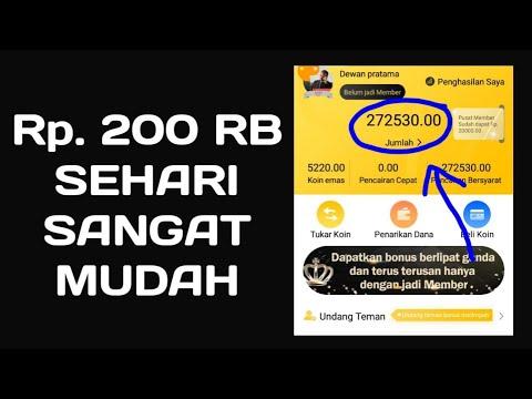 BUKTI WITHDRAW 200RIBU PERHARI dari aplikasi penghasil uang terbaik 2018 modal android