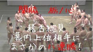 2018年夏場所前に開催された大相撲稽古総見(5/3東京:両国国技館)の様...