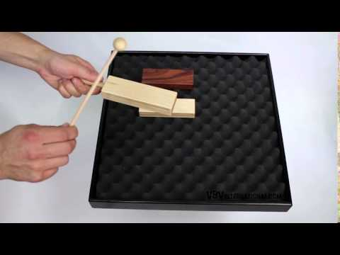 2-Tone Woodblock Beech 14.6cm with Handle - 3+ video