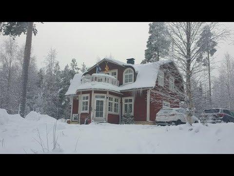 Финляндия 2019 Жизнь и отдых в Вуокатти аренда коттеджа зимой лыжи