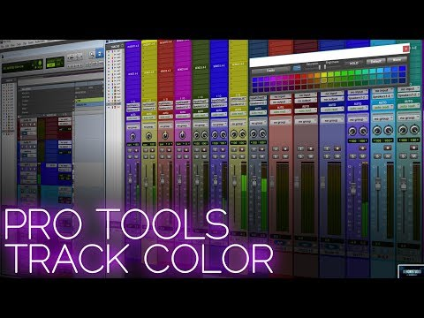 PRO TOOLS 2018 | TRACK COLOR