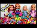Cool Shopkins GAME! Elsa, Anna, Rapunzel & Ariel toddlers PLAY,  laugh, enjoy and have fun