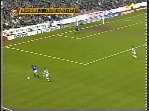 Paul Byrne scores v Rangers 1995