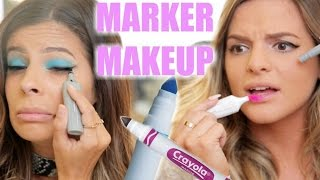 DOING MAKEUP WITH MARKERS w. Casey Holmes