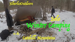 Solo Winter Camping iฑ the Catskill Mountains