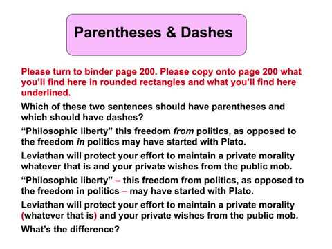 Parentheses & Dashes