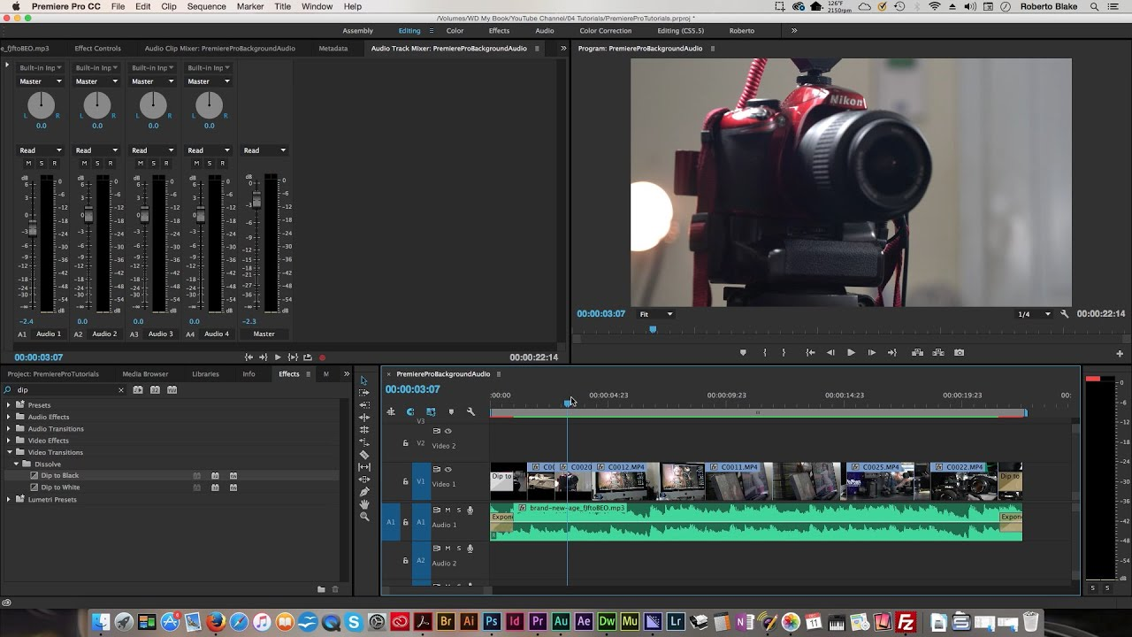 How to add background music to video in premiere pro cc 2015 youtube ccuart Choice Image