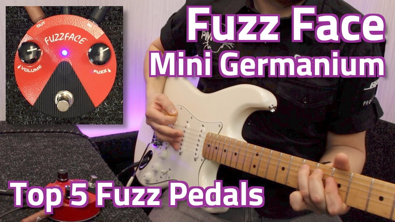 dunlop fuzz face mini germanium demo top 5 fuzz pedals youtube. Black Bedroom Furniture Sets. Home Design Ideas