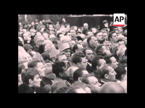 CAN930 FORMER DEPUTY PARTY LEADER OF WEST GERMAN SOCIAL DEMOCRATS FRITZ ERLER STATE FUNERAL