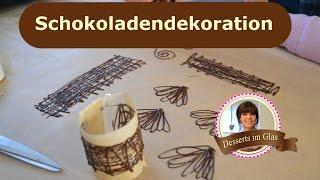 Schokoladen Dekor für Desserts und Kuchen selber machen - Schoko Dekorationen – Ornamente