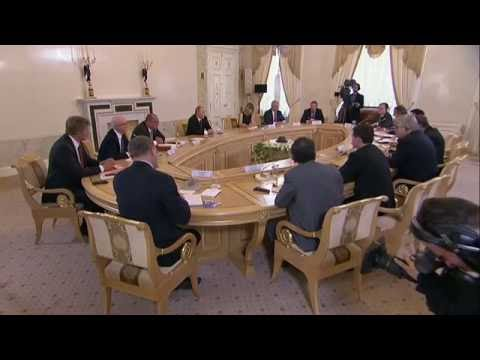 Vladimir Putin. Meeting with heads of leading international news agencies