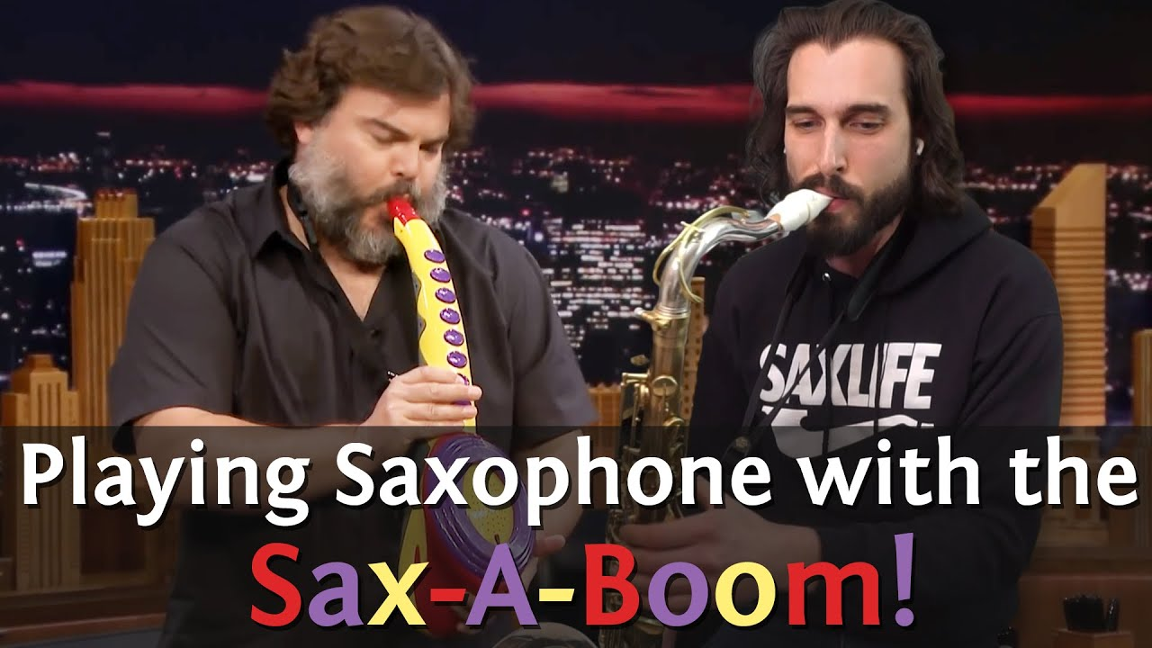 Playing Saxophone with the Sax-A-Boom! Jack Black + Chad LB!