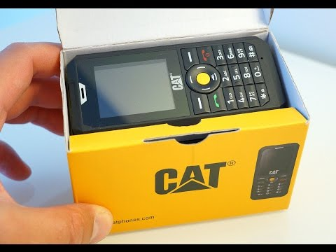 CAT B30 rugged feature phone unboxing