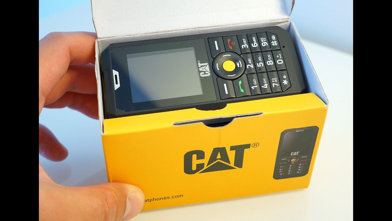 991df1b629a CAT B30 rugged feature phone unboxing - YouTube