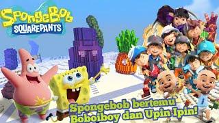 Boboiboy dan Upin Ipin datang ke bikini bottom untuk menemui Spongebob!