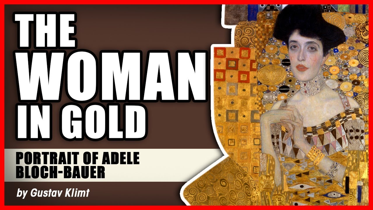 Woman in Gold poster by Gustav Klimt portrait of Adele Bloch Bauer reproduction.