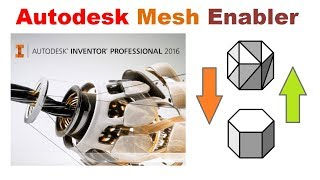 Редактируем STL модели в Autodesk Inventor, плагин  Autodesk Mesh Enabler