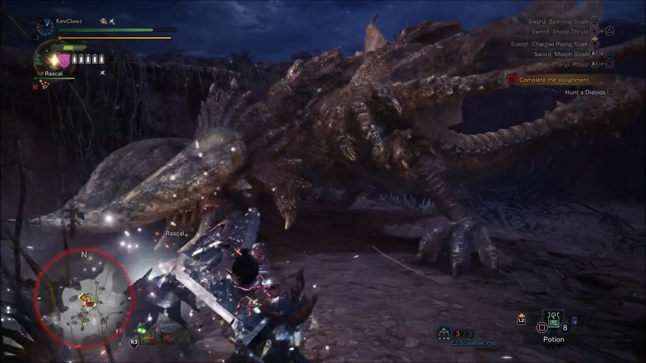 how to get diablos to spawn monster hunter world