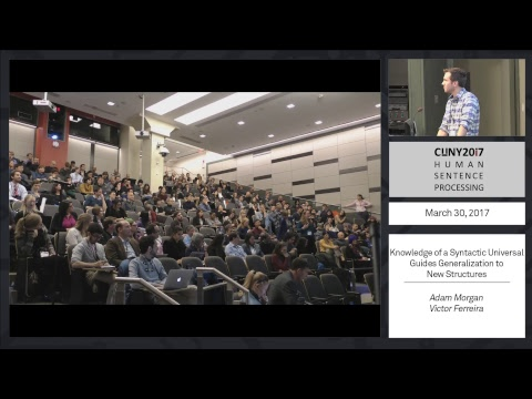 CUNY 2017 Live Stream: Thursday March 30, Morning Session