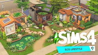 ECO TINY HOUSE COMMUNITY 💚 | The Sims 4: Eco Lifestyle Speed Build