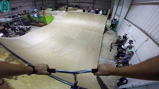 AWESOME INDOOR HALF PIPE SCOOTER TRICKS!