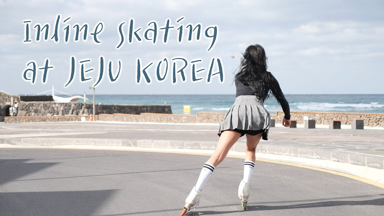 Inline skating at JEJU KOREA- 제주도에서 인라인스케이트