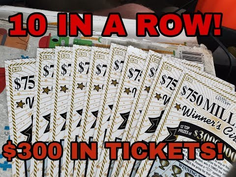 10 IN A ROW! $30 WINNER'S CIRCLE! TEXAS LOTTERY SCRATCH OFF TICKETS