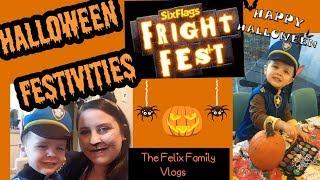 Halloween Vlog  Six Flags Fright Fest 2017
