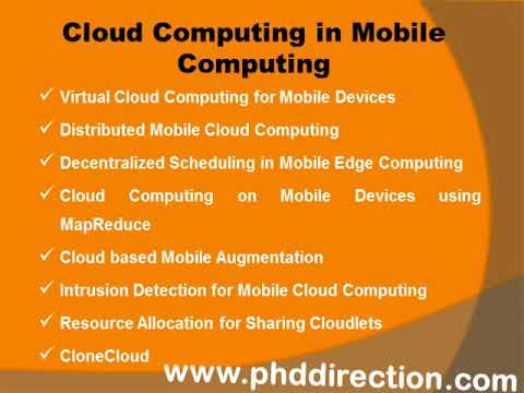 PhD Research Topics In Mobile Computing