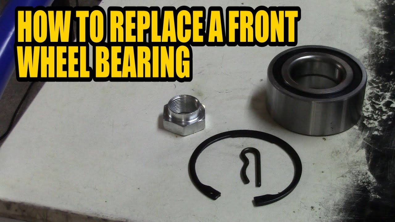 How to replace a front wheel bearing Citroen Xsara Picasso 2003  YouTube