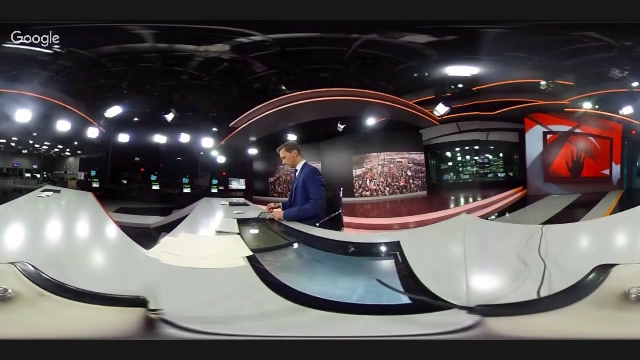 360 LIVE: First ever RT news broadcast from Moscow studio in 360 degree live  stream - YouTube