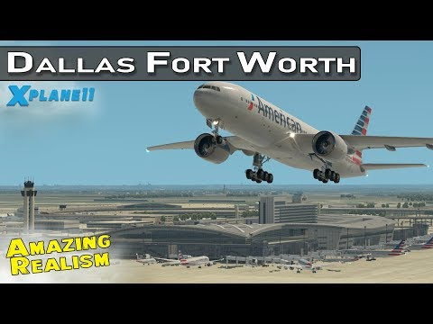 Dallas Fort Worth International Airport with Live ATC  and Airline Flight Schedules   X-Plane 11