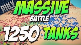 MASSIVE 1250 TANK BATTLE  - 625 VS 625 Tanks (Total Tank Simulator Gameplay)