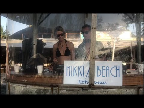 Laura Harvey (SpinSisters) & Barber dropping Black Water (Octave One) @ Nikki Beach Koh Samui!