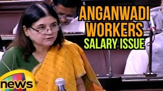 Maneka Gandhi Speaks About Anganwadi Workers Salary Issue | Lok Sabha | Mango News