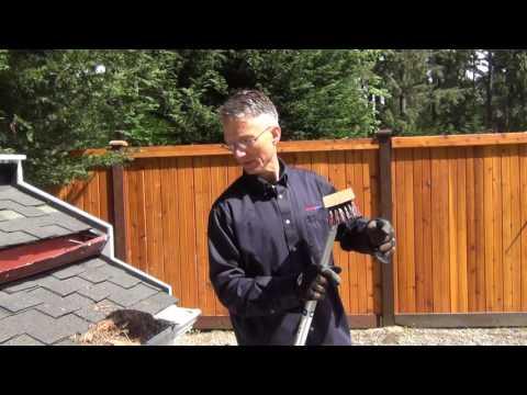 Gutterglove Pro - Brushing off Debris