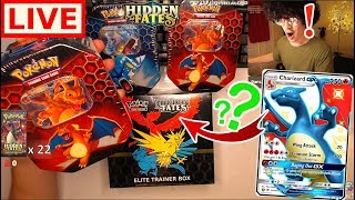 Searching LIVE for the $800 Shiny Charizard Pokemon Card! (HIDDEN FATES) ft. Jordan Fringe