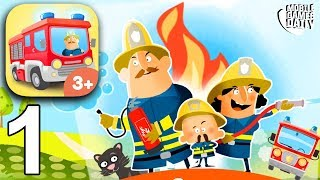 LITTLE FIRE STATION - Gameplay Part 1 (iOS Android) - Games For Kids
