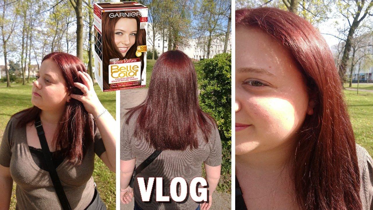 vlog mon exprience capillaire avec garnier photos youtube - Belle Color Acajou