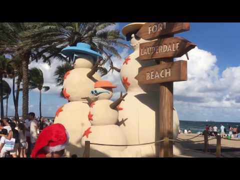 Fort Lauderdale Florida Vlog #1 / Christmas Night 2016 on Fort Lauderdale Beach / CPA Strength