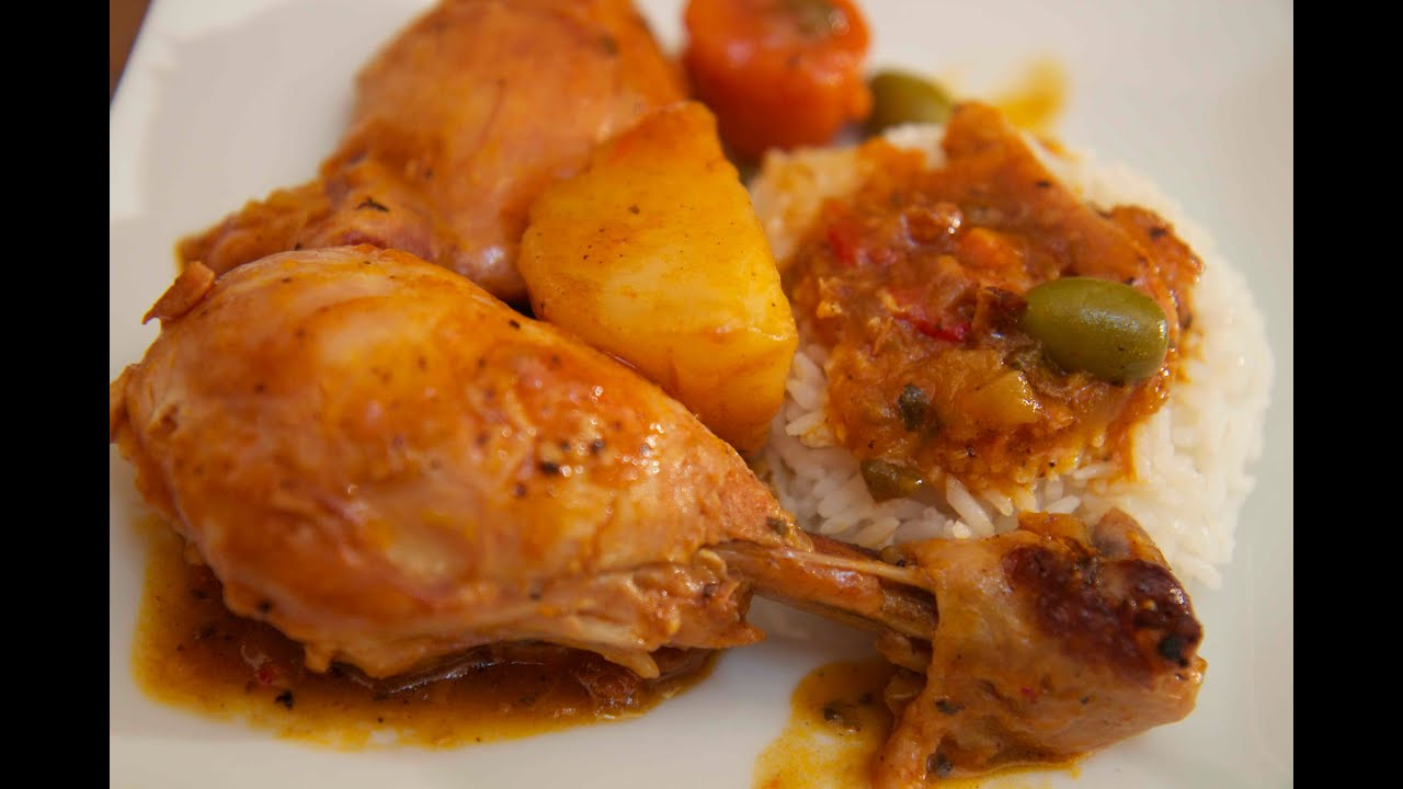 chicken fricassee fricase de pollo cooked by julie