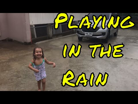Part 1 Fil-Am Girl First Time Playing in the Rain - Life in the Philippines