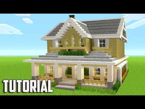 Minecraft: How To Build A Suburban House - Minecraft Tutorial 2017