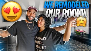 WE GAVE OUR BED ROOM A MAKEOVER!! (BEFORE & AFTER)
