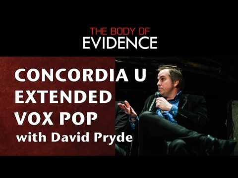 Concordia U Extended Vox Pop with David Pryde